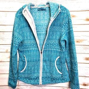 PrAna Full Zip Fleece Hoodie Arka Jacket